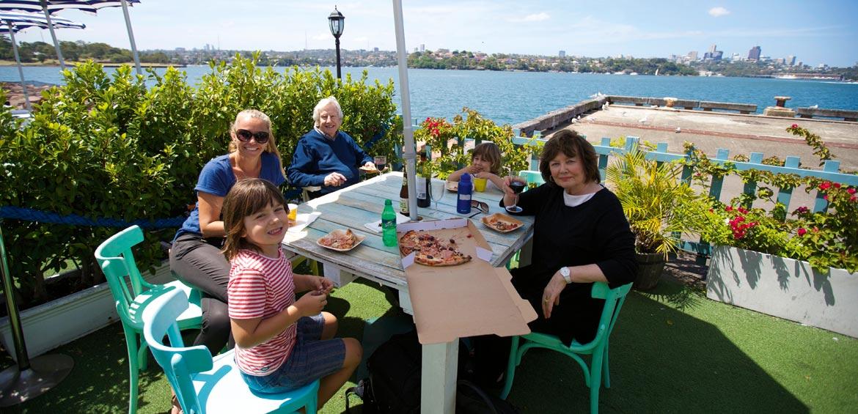 Lunch on Cockatoo Island