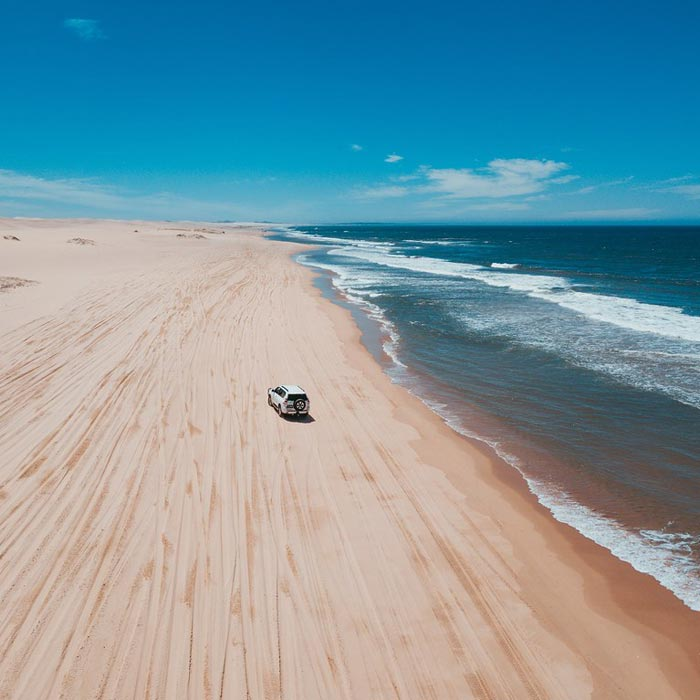 4 Wheel Driving on the dunes of Stockton Beach New South Wales,